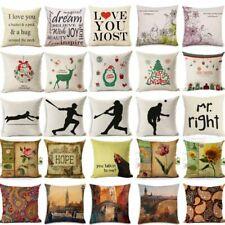 """18"""" Baseball Player Silhouette Cotton Linen Pillow Case Cushion Cover Home Decor"""