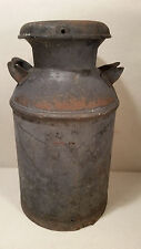 Vintage Eskay Dairy Ft. Wayne, IN 10 Gallon Milk Can - Faded Eagle - Blue Patina