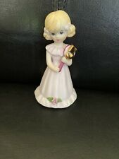New ListingAge 5 Blonde Growing Up Birthday Girls Enesco ~ Vintage - Cake Topper? Mint