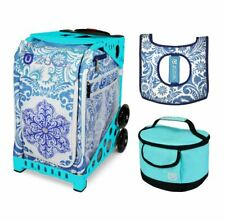 Zuca Sport Bag - Ice Garden with Gift Seat Cover and Lunchbox (Turquoise Frame