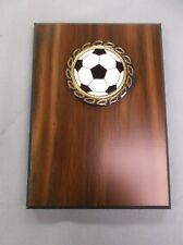 5 x7 plaque award trophy mylar relief soccer ball insert
