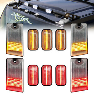 10Pcs Clear LED Cab Roof Light Kit for Hummer H2 03-09 Clearance Marker Top Lamp