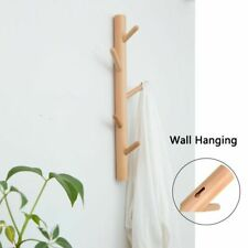 Wood Wall Hook For Hanging Clothes Hanger Coat Storage Rack Home Decor Hats Bags