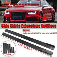 For Audi A3 8P A4 B8 A5 A6 S3 S4 TT 8J Side Skirts Extensions Lips Splitters 2M