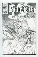 Lady Death The Crucible #1/2 White Linen Sketch Variant Cover by Steven Hughes