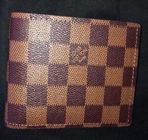 Louis Vuitton Card Holder Men Women Wallet Canvas Brown