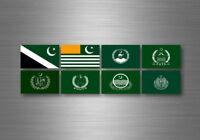 Planche autocollant sticker etiquette drapeaux region province etats pakistan
