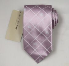 "NEW Burberry PINK Check Mans 100% Silk Tie Authentic Italy Made 3.5"" 0350114"