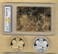THE BEATLES 23Kt Gold Card Abbey Road London Album & Gold & Silver Coin