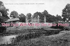 HR 104 - Italian Gates, Canon Frome Court, Herefordshire c1905 - 6x4 Photo