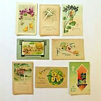 Lot 8 Easter Postcards Vintage Early 1900s Germany Embossed Chicks Lamb Cross