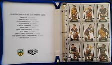 2015 NRL ELITE TRADING CARD ALBUM WITH FULL COMPLETE BASE COMMON SET - 161 CARDS