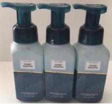 3 Pack Bath & Body Works Coconut Eucalyptus Gentle Foaming Hand Soap