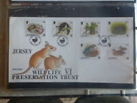 JERSEY 1997 WILDLIFE PRESERVATION SET 6 STAMPS FDC FIRST DAY COVER
