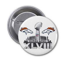 """Denver Broncos SET OF 10 SUPER BOWL 50 PINBACK BUTTONS superbowl 2016 2.25"""" ring"""