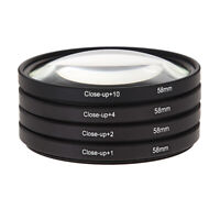 58MM Macro Close Up Lens Filter Kit +1 +2 +4 +10 For Canon EOS 650D 600D 18 /ND