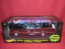 Hot Wheels DJJ39 1966 Batmobile with 1:18 Batman and Robin figures