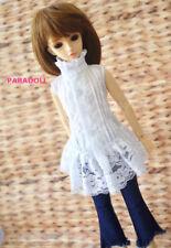 White Lace Shirt for BJD 1/4 MSD,1/3 SD13 SD16 DD Doll Clothes CWB22-2