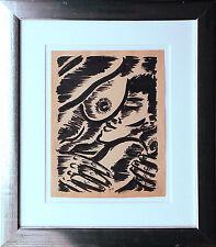 Frans Masereel intimidad tinta china 27 x 21 1940er J. alta canción salomos hoja de coleccionista