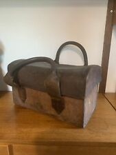 More details for antique original midland electrical board thick leather workman's tool  bag