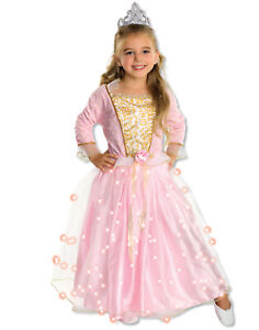 Girls Light Up Twinkle Pink Princess Queen Costume