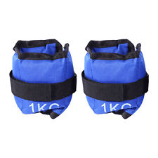 2pcs 1kg Adjustable Ankle Weights Gym Equipment Wrist Fitness Yoga Training AU