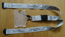 GAMBIA BIRD AIRLINES LOGONAME AIRLINE LANYARD, PASS, MEM LOOP ~RARE~