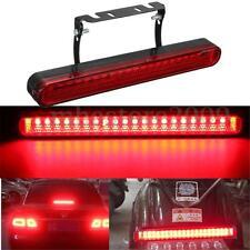 Car Motorcycle Rear 12V LED High Mount Brake Stop Tail Light Flashing Red Lamp
