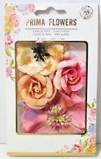 """Prima Flower - Rose Quartz Mulberry Paper Flowers 1.75-3"""" 4/pk 582623"""