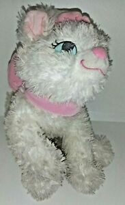 Disney Aristocat 12 Inch Soft Plush White  Kitten  Pink Bow Collectable Official