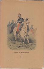 C1 Histoire Armee GRAVURE COULEURS PHILIPPOTEAUX Lieutenant Chasseurs Afrique