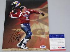 TRAVIS PASTRANA Hand Signed 8'x10' Photo + PSA DNA M56010  Nitro Circus