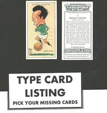 Type Cards: Players FOOTBALL CARICATURES BY MAC EX cond ( cards 26-50)