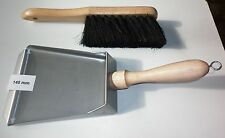 SMALL SIZE - STAINLESS STEEL / METAL FIREPLACE TOOL- DUSTPAN & BRUSH, DUST PAN
