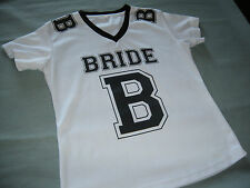 Womens Bridal Bride Jersey Shirt Top Small