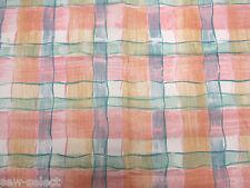 120 cm x 137 rosa pastel verde cuadros tela de cortina material Rika Bloomcraft