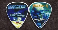 SCORPIONS 2017 World Tour Guitar Pick!!! custom concert stage Pick MEGADETH