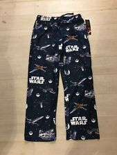 New How We Roll R2D2 Star Wars Blue Force Awakens First Order Knit Sleep Lounge Pants
