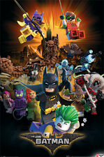 THE LEGO BATMAN MOVIE - MOVIE POSTER / PRINT (BOOM - CHARACTERS)