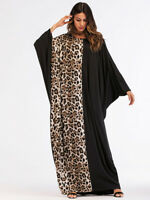 Muslim Women Bat Sleeve Loose Long Maxi Cocktail Dress Islamic Gown Abaya Robes
