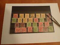 27 Posthorn Sammlung auf Steckkarte ab  Mi 136 alle gestempelt BRD Bund 1951