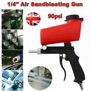 "1/4""Handheld Air Compressor Speed Gun Sand Blaster Sandblaster Blasting Portable"