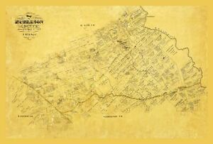 Burleson County Texas - Martin 1856 - 23.00 x 34.04