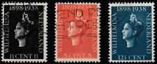 Nederland gestempeld 1938 used 310-312 - Regeringsjubileum (01)