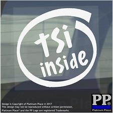 1x TSI Inside-Window,Car,Van,Sticker,Sign,Vehicle,Turbo,Charged,Super,Charge