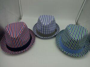 Nick Graham Beach Classic Trilby Short Brim Cotton Poly Blend Fedora Hat W/ Band