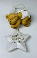 Boyds Bear🧸Resin Christmas Tree🎄Ornament~Baby's 1st Christmas 2006 ⭐️
