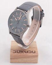 DUKUDU Olivia DU-115 Uhr Armbanduhr Designuhr Ø ca. 40 mm - grau / silber