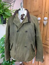 MEN'S BARBOUR JOE CASELY-HAYFORD DOUBLE BREASTED GREEN WAXED JACKET COAT LARGE