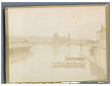 Suisse, Genève, Ile J.J. Rousseau  Vintage silver print Tirage argentique  9